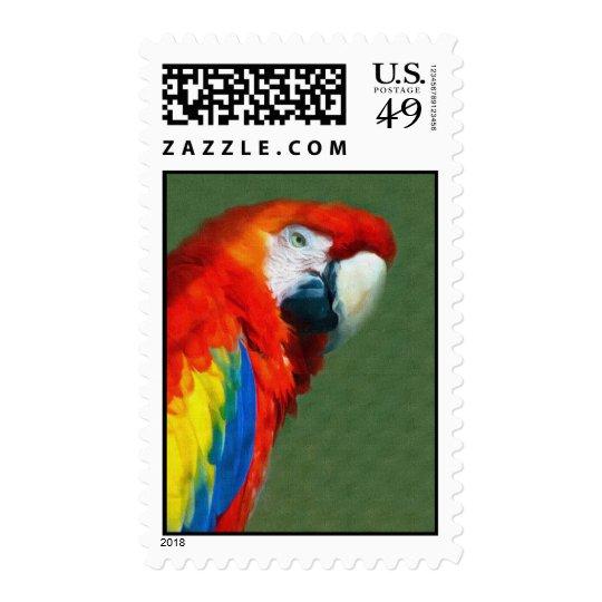 Scarlett Macaw Postage