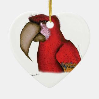 scarlett macaw, tony fernandes ceramic ornament
