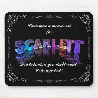 Scarlett  - The Name Scarlett in 3D Lights (Photog Mouse Pad