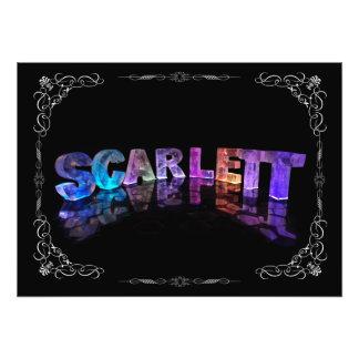 Scarlett - The Name Scarlett in 3D Lights Photog Photo