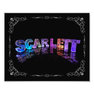 Scarlett - The Name Scarlett in 3D Lights Photog Photo Art