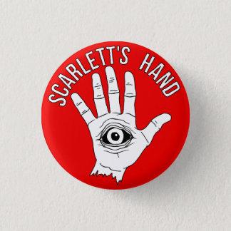 Scarlett's Hand Round Button Red