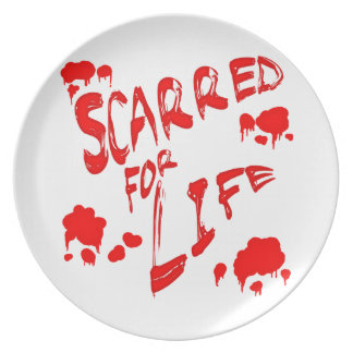 Scarred For Life Dinner Plate