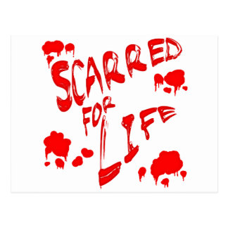 Scarred For Life Postcard
