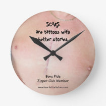 Scars are tattoos with better stories round clock