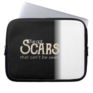 Scars that can't be seen computer sleeves