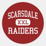 Scarsdale - asaltantes entrenados para la lucha etiquetas redondas