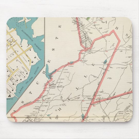 Scarsdale, New Rochelle, Mamaroneck towns Mouse Pad
