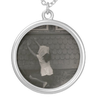 Scarves by the window round pendant necklace