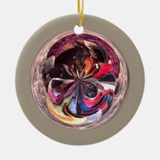 Scarves in the Spherical Round Ceramic Decoration