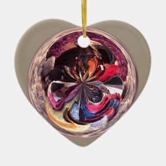 Scarves in the Spherical Ceramic Heart Decoration