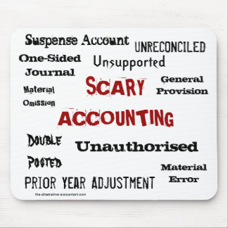 Scary Accounting - Humorous Horror Show Mouse Pad