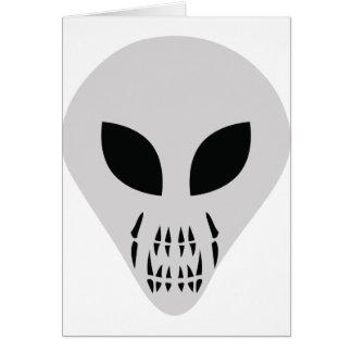 scary alien head card