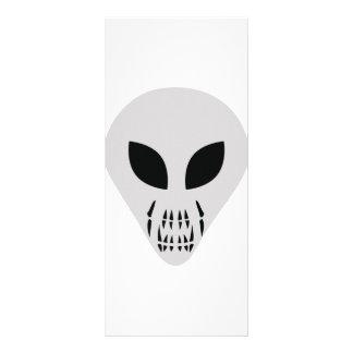 scary alien head custom rack cards