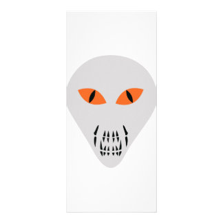scary alien head rack cards