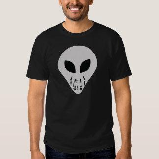 scary alien head t shirt