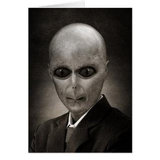 Scary alien portrait card