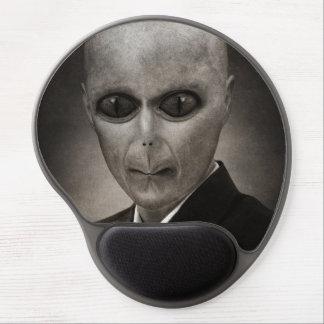 Scary alien portrait gel mouse pad
