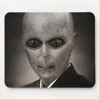 Scary alien portrait mouse pad