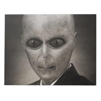 Scary alien portrait notepad