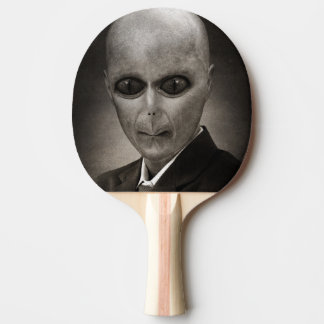 Scary alien portrait ping pong paddle