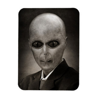 Scary alien portrait rectangular photo magnet