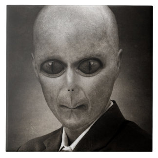 Scary alien portrait tile