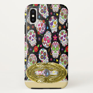 Scary and bloodcurdling intimidating sugar skull iPhone x case
