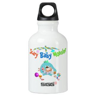 Scary baby monster aluminum water bottle