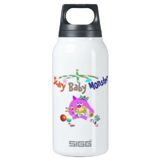 Scary baby monster insulated water bottle