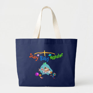 Scary baby monster printed bag