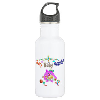 Scary baby monster water bottle