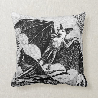 Scary Bat Polyester Throw Pillow 16 x 16 in