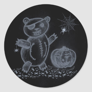 Scary Bear 2 Classic Round Sticker