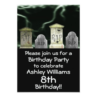 Scary Birthday Party Invitation