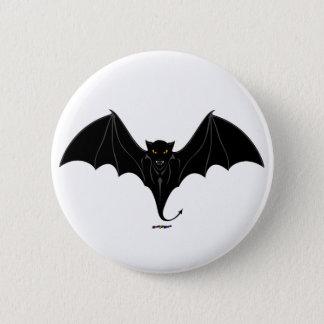 Scary Black Bat Button