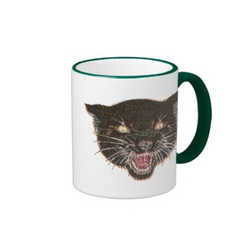 Scary Black Cat Face Mug