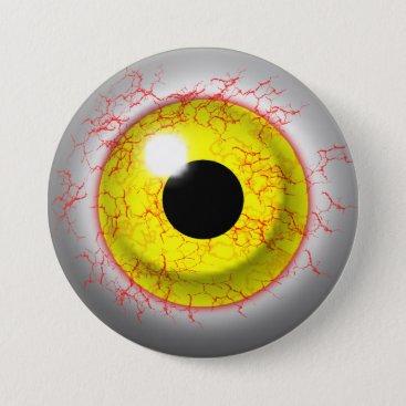 Halloween Themed Scary Bloodshot Zombie Eye Novelty Button
