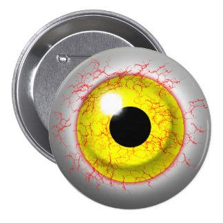 Scary Bloodshot Zombie Eye Novelty Button
