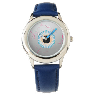 Scary Blue Bloodshot Eye Wrist Watch