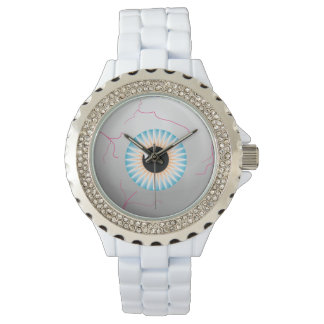 Scary Blue Bloodshot Eyeball Wristwatch
