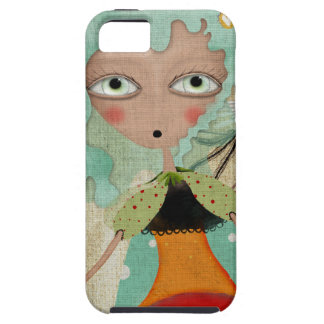 Scary Blue Hair Whimsical iPhone 5 Cases