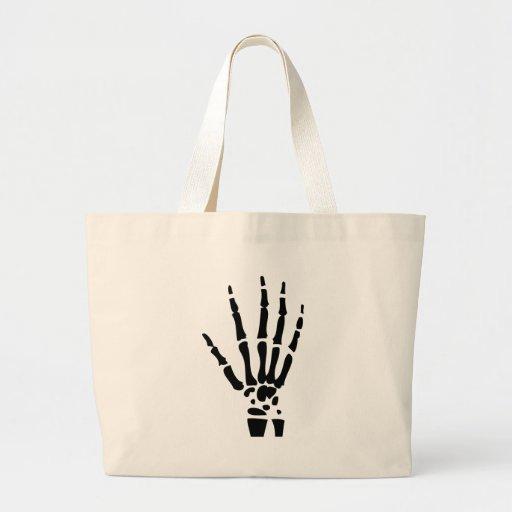 scary bone hand halloween jumbo tote bag