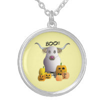 Scary Boo Coo Silver Plated Necklace