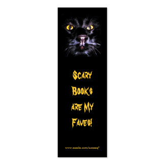 Scary Books bookmark Business Card Templates