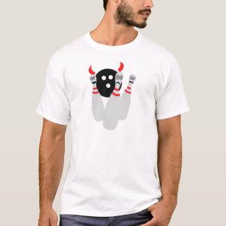 scary bowling ninepine devil T-Shirt