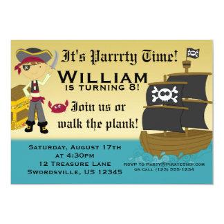 Scary Boy Pirate Birthday Party Invitation