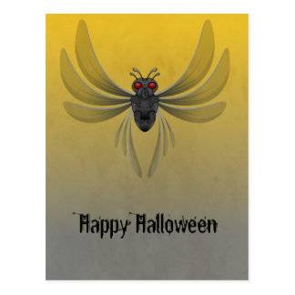 Scary Bug Halloween Postcard
