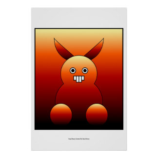 Scary Bunny Monster Posters