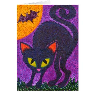 Halloween Themed Scary Cat Card